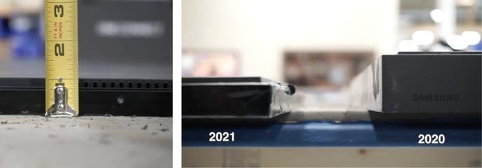 Samsung Frame TV 2021 dimensions