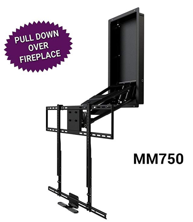 Mantel Mount MM750 - Over Fireplace drop down lift for tv