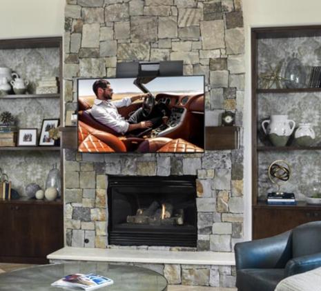 Nexus21 - TV Lift over fireplace