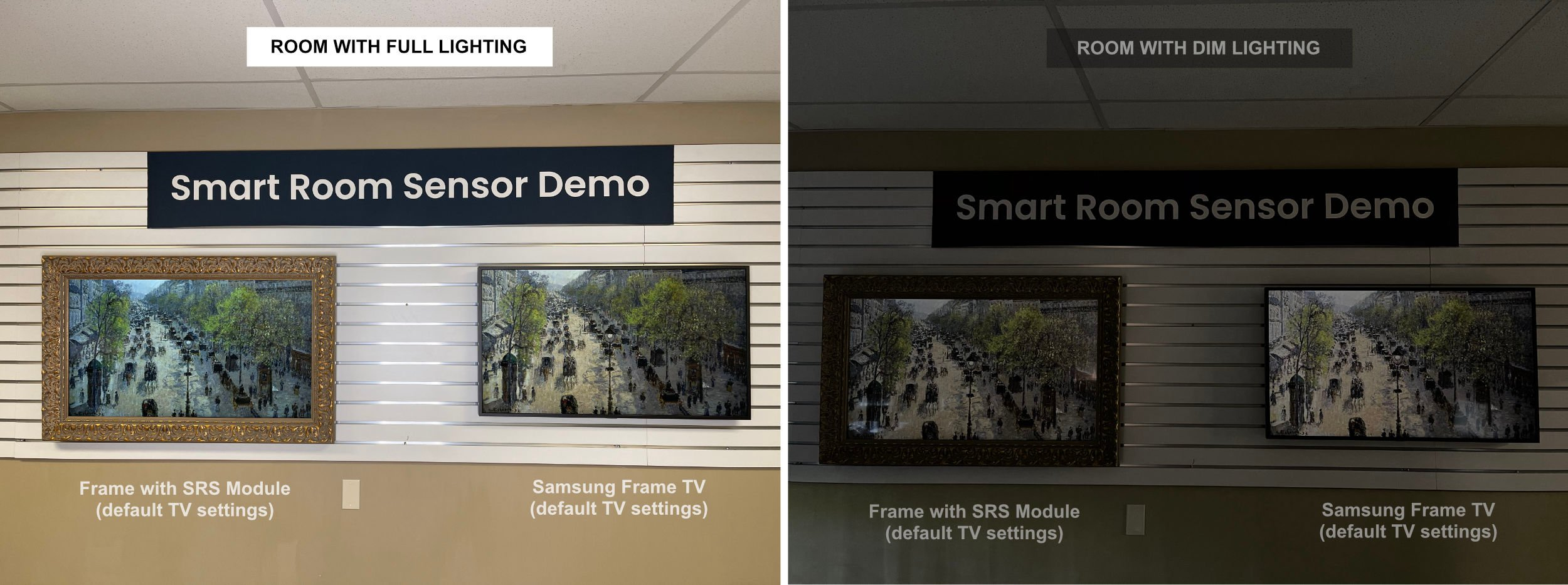 Samsung Frame TV Light Sensor sensitivity