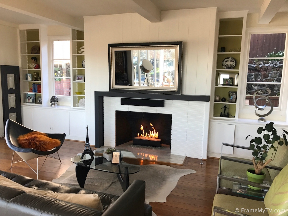 TV Mirror over Fireplace