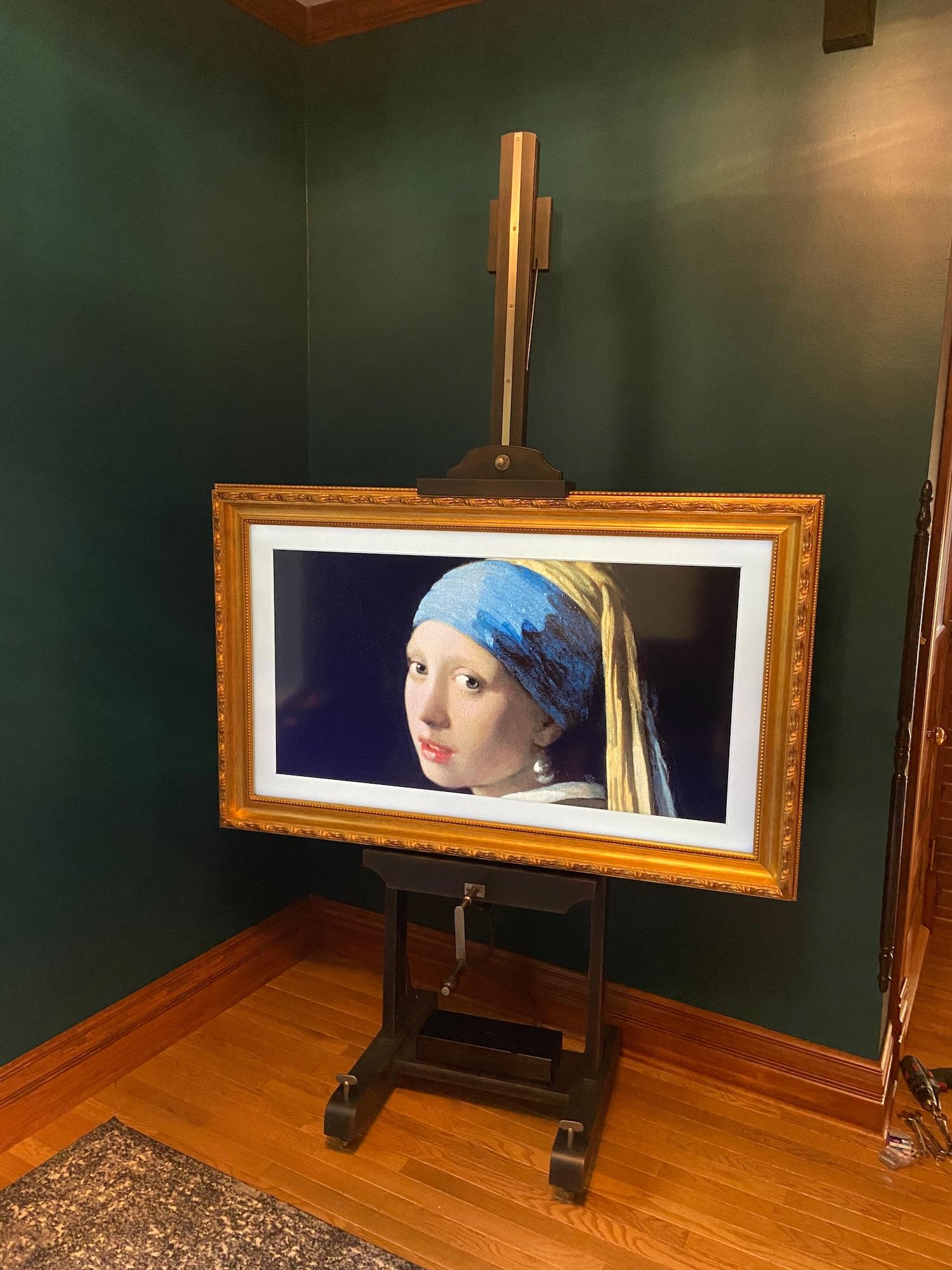 Restoration hardware RH English Artist's TV Easel - Samsung Frame - Studio Stand
